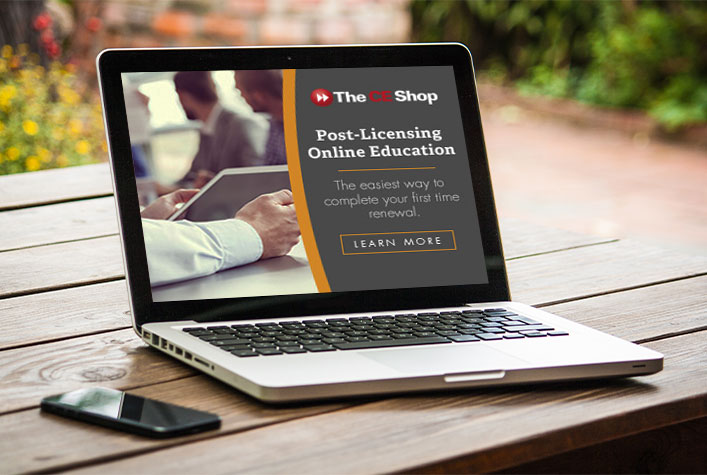 CE Shop Post License Online Education
