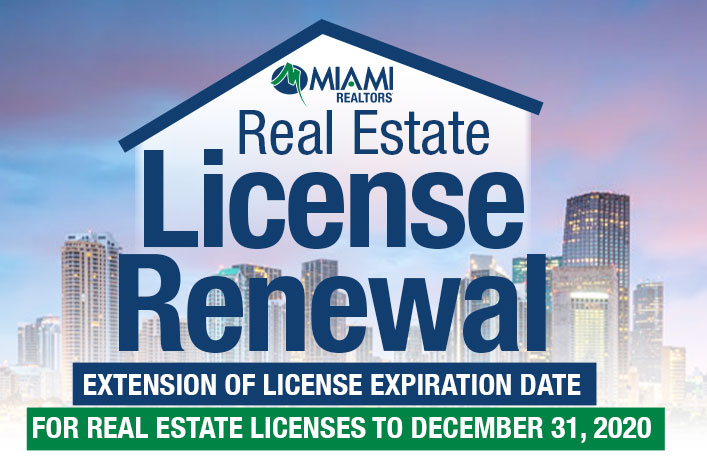 Extension of License Expiration Date for Real Estate Licenses to December 31, 2020- Complete Your Continuing Education Online