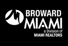 MIAMI Realtors Broward logo in white