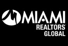 MIAMI Realtors global logo in white