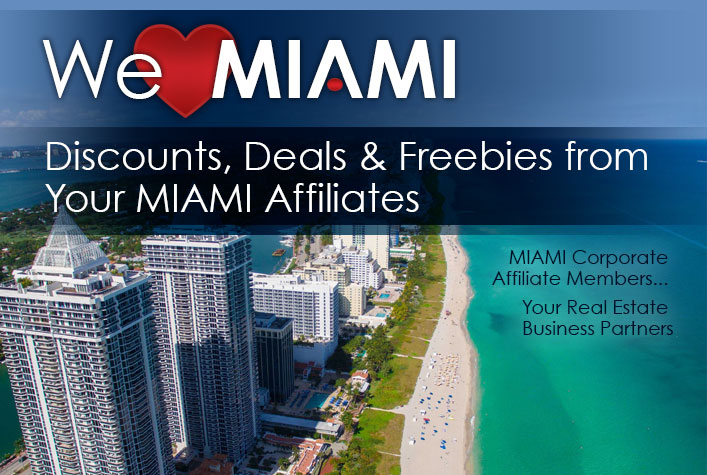 We Love Miami - discounts, deals and freebies from your Miami Affiliates.