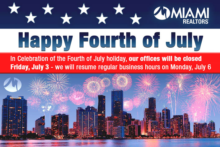 July 3 Office Closure-Independence Day Celebration