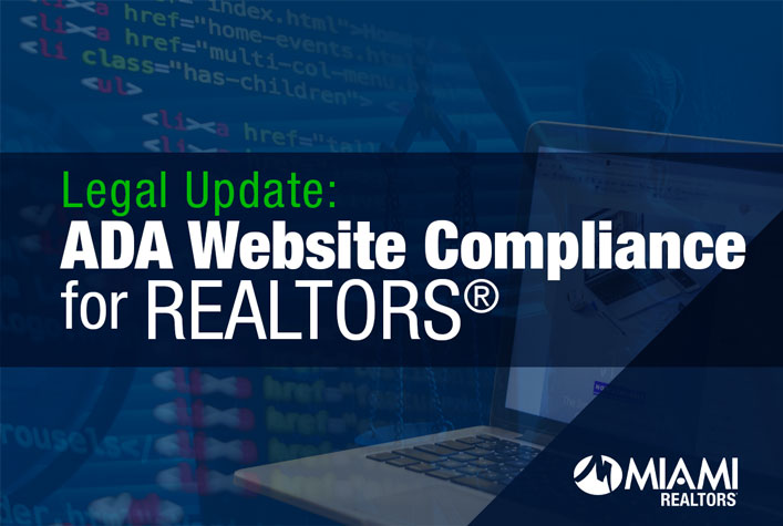 Legal Update: ADA Website Compliance for Realtors