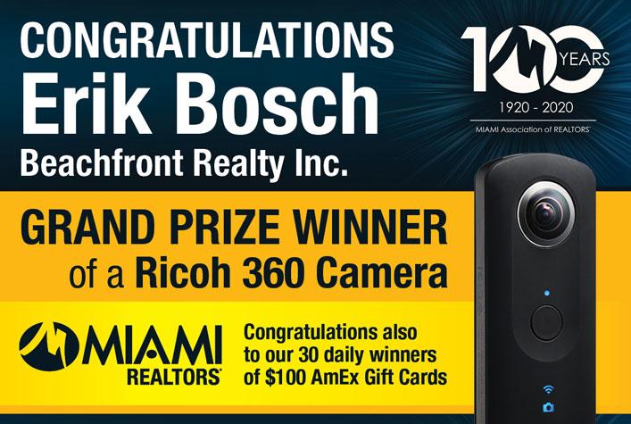 Grand Prize Winner of a Ricoh 360 Camera