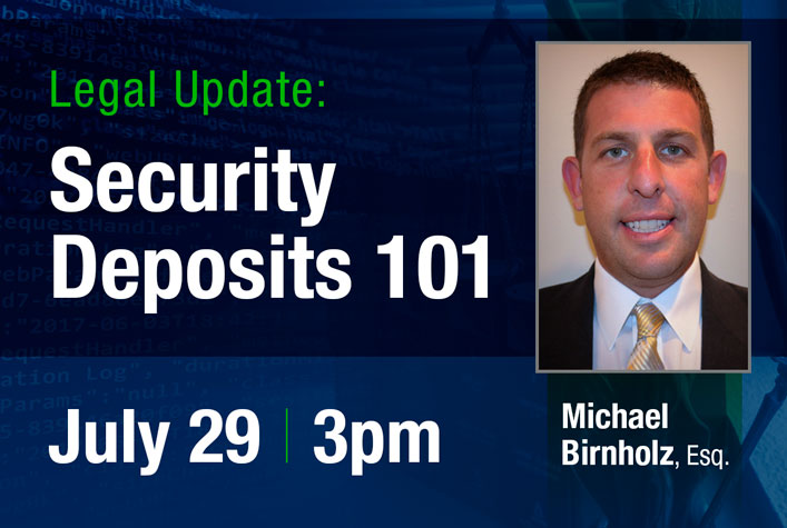 Legal Update: Security Deposits 101