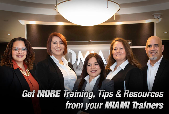 MIAMI REALTORS Trainers. Tips, Tricks & Resources from your MIAMI Trainers.