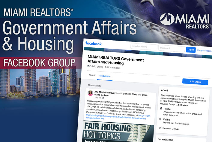 MIAMI REALTORS Government Affairs and Housing Facebook Group