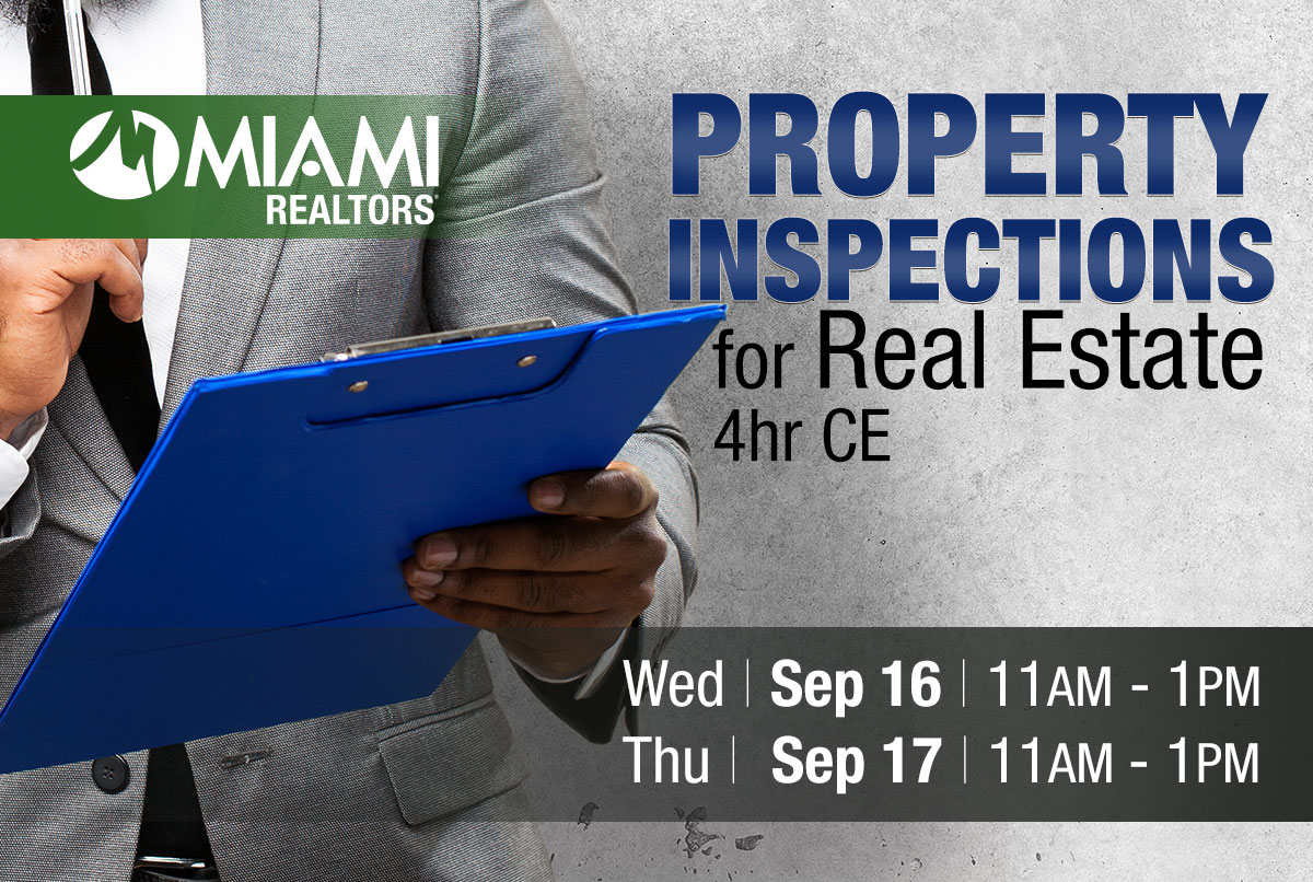 Virtual - Property Inspections for Real Estate – 4 CE