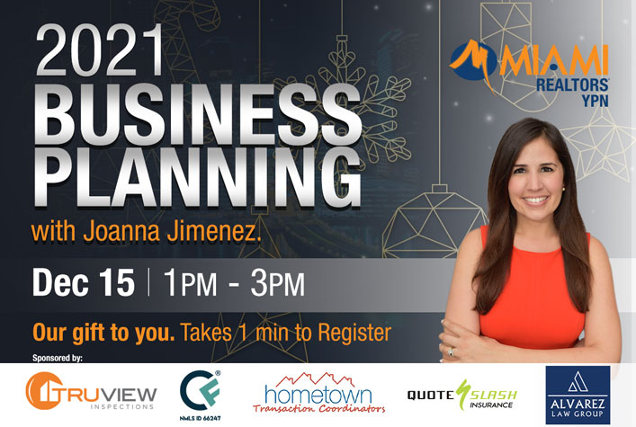 2021 Business Planning with Joanna Jimenez - December 15 at 1pm