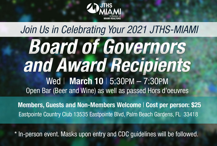 JTHS-MIAMI Installation and Awards Presentation