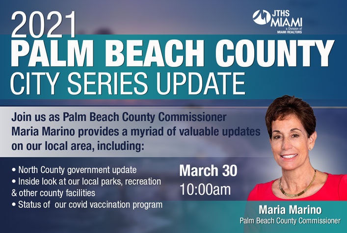 Palm Beach County Update with Commissioner Maria Marino