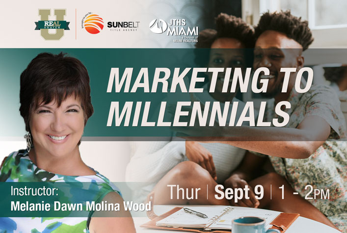 Marketing to Millennials with Instructor Melanie Wood on September 9 at 1pm