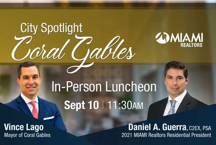 City Spotlight – Coral Gables September 10 @ 11:30 am - 1:00 pm Take your lunch hour to the next level while building relationships and hearing about the latest happenings in Coral Gables.