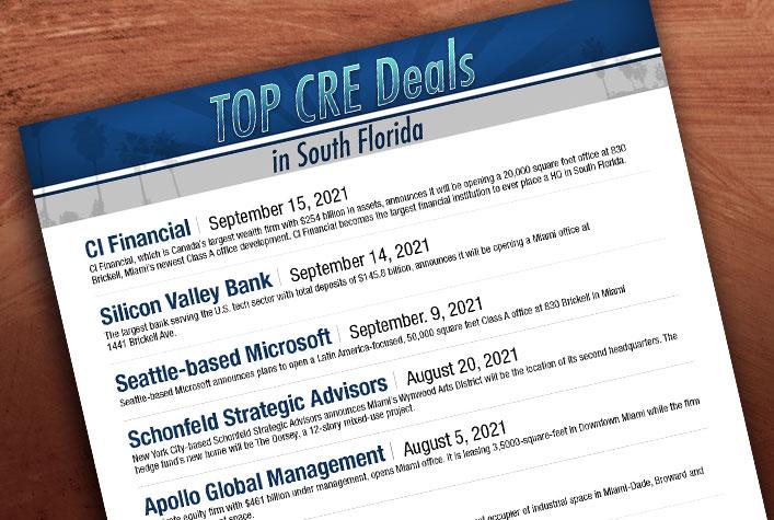 Top Commercial Real Estate Deals