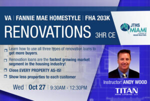 Renovation Specialist - Fannie Mae Homestyle - VA & FHA 203K Renovation